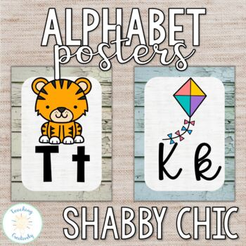 Shabby Chic Print Alphabet Posters