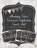 Shabby Chic Alphabet Set Cards in Cursive Writing