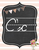 Shabby Chic Alphabet Set Cards in Cursive Writing