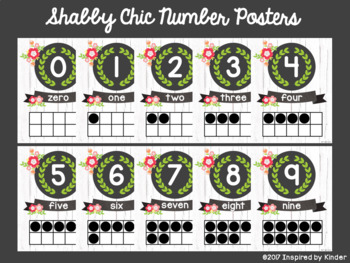 Shabby Chic Alphabet and Number Posters {A Mini-Bundle}