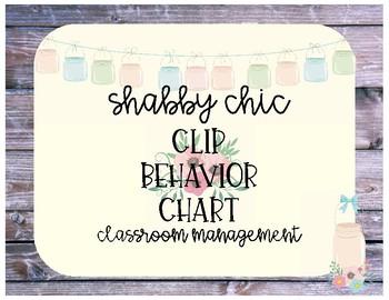 Shabby Chic Behavior Clip Chart