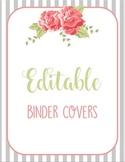 Shabby Chic Binder Covers EDITABLE