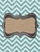 Shabby Chic Binder Covers-editable, coral-turquoise