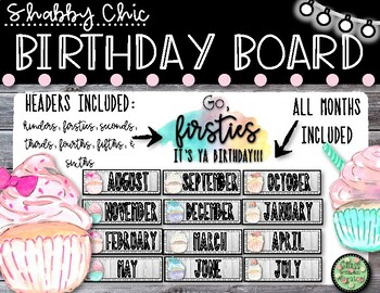 Shabby Chic Birthday Board