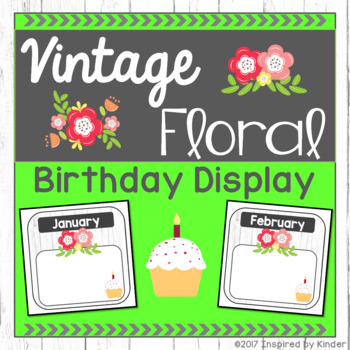 Shabby Chic Birthday Display (EDITABLE)