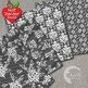Shabby Chic Black Digital papers, Floral Lace Papers, AMB-1029