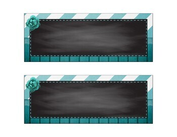 Shabby Chic Blank Labels -  9 sizes/shapes - Burlap, Wood, Chalkboard, Teal