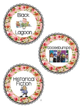 Shabby Chic Book Basket Labels