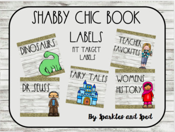 Rae Dunn Inspired Book Labels