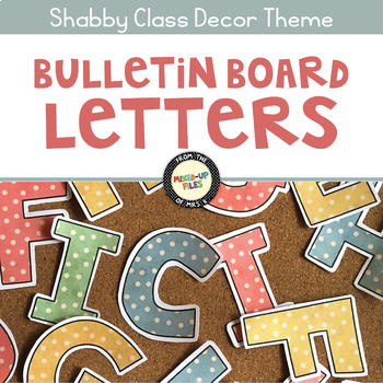 Shabby Chic Bulletin Board Letters
