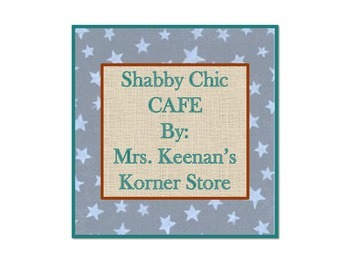 Shabby Chic CAFE sign