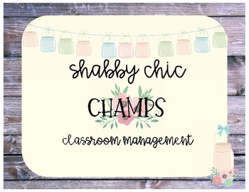 Shabby Chic CHAMPS Classroom Management