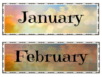 Shabby Chic Calendar