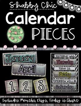 Shabby Chic Calendar Pieces
