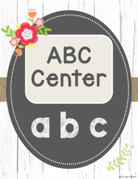 Shabby Chic Center Posters {Vintage Floral Design}