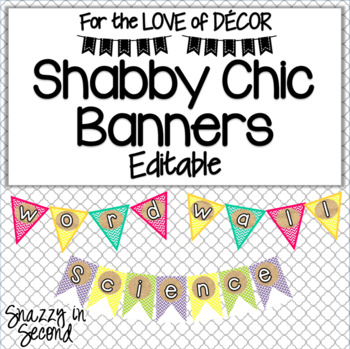 Shabby Chic: Class Banners {EDITABLE}