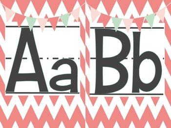 Shabby Chic Classroom Alphabet Sets Burlap Chevron Rustic