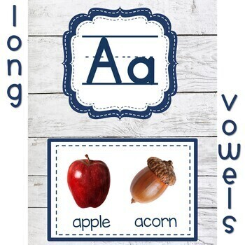 Shabby Chic Classroom Decor Alphabet Posters