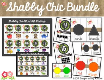 Shabby Chic Classroom Decor {Bundle}