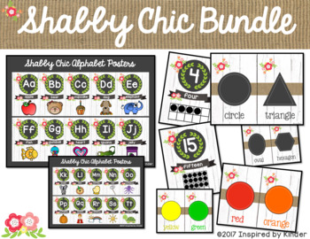 Shabby Chic Classroom Decor {Bundle}