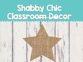 Shabby Chic Classroom Decor Pack