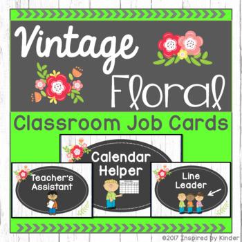 Shabby Chic Classroom Job Cards
