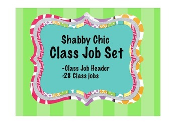 Shabby Chic Classroom Jobs