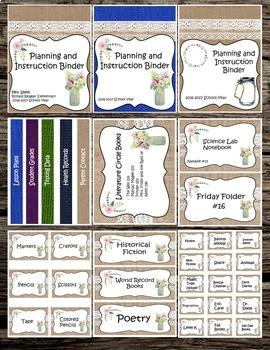 Shabby Chic Classroom Labels (Burlap)