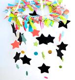 Shabby Chic Classroom Names/Birthdays Mobile- Chalkboard s