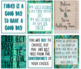 Shabby Chic Classroom Posters (Set of 18)