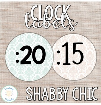 Shabby Chic Clock Number Labels