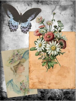 Shabby Chic Collage Scrapbook/Journal Pages