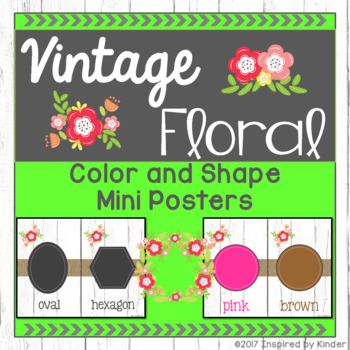 Shabby Chic Color and Shape Posters