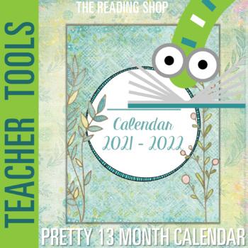 Editable Calendar Shabby Chic