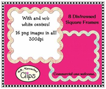 """""""Shabby Chic"""" Distressed Square Frames"""