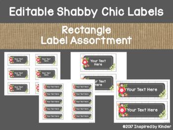 Shabby Chic Editable Labels {Vintage Floral Design}