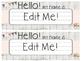 Shabby Chic Name Plates  Editable
