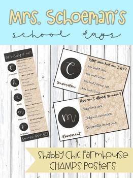 Shabby Chic Farmhouse CHAMPS Signs