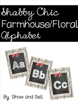 Shabby Chic/Farmhouse Floral Alphabet