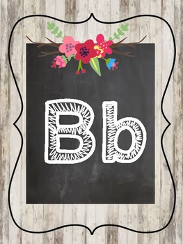 Shabby Chic/Farmhouse Floral Alphabet