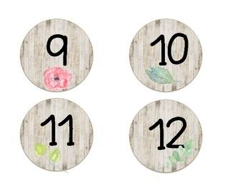 Shabby Chic/Farmhouse Floral Calendar