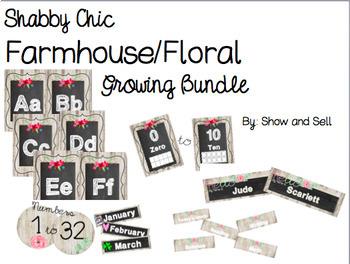 Shabby Chic Farmhouse Floral Growing Bundle