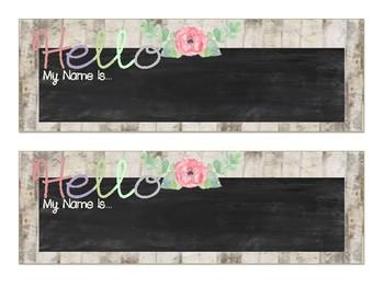 Shabby Chic/Farmhouse Floral Nameplates