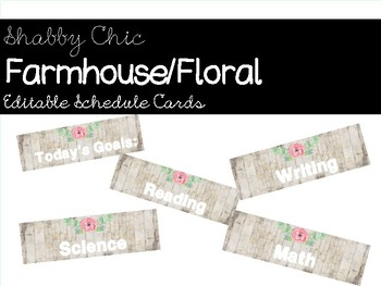 Shabby Chic/Farmhouse Floral Schedule Cards