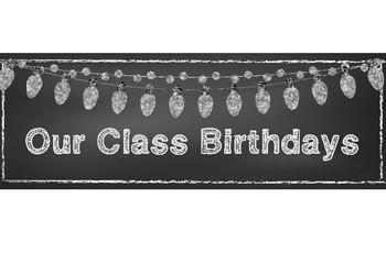 Shabby Chic/Farmhouse Themed Class Birthday Display