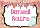 Shabby Chic/Farmhouse Themed Dismissal Routine Display