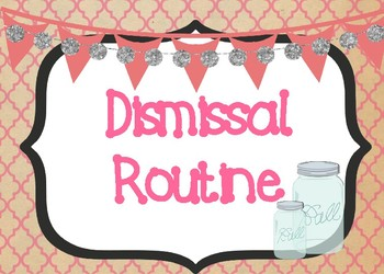 Shabby Chic/Farmhouse Themed Dismissal Routine Display