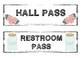 Shabby Chic/Farmhouse Themed Hall Passes