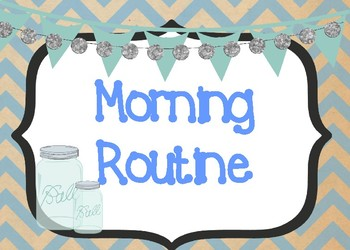 Shabby Chic/Farmhouse Themed Morning Routine Display