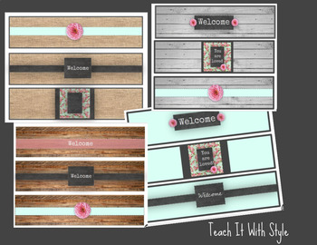 Shabby Chic, Farmhouse Water Bottle Labels, Back to School